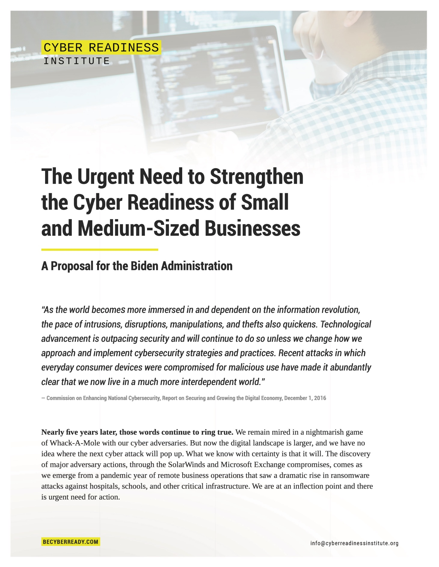 CRI-The Urgent Need to Strengthen the Cyber Readiness of Small and Medium-Sized Businesses